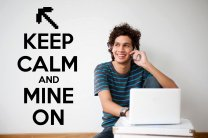 'Keep Calm and Mine On' - Minecraft Gamer's Room Wall Sticker