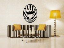 Starburst Banksy Panda With Guns - Modern Wall Decor