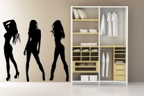 Set Of 3 Realsize Amazing Sexy Girls - Large Wall Stickers