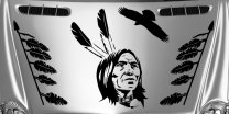 American Indian - Set Of 8 Stickers - Perfect For 4x4, SUV Car