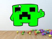 Minecraft Creeper ver.2 - Gamer's Room Colourful Wall Sticker