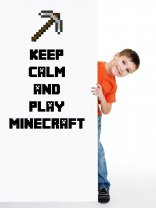 Keep Calm and Play Minecraft - Colourful Pickaxe Wall Sticker