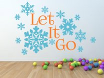 Frozen 'Let It Go' - Amazing Snowflakes Large Wall Sticker