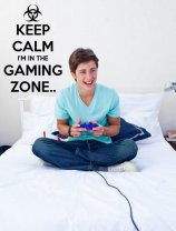 'Keep Calm I'm in the Gaming Zone' - Gamers Room Wall Decor