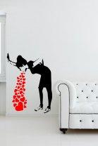 Banksy Love Sick - Iconic Graffiti Wall Sticker
