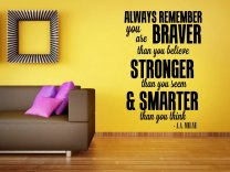 'Always remember. You are braver than you believe...' A.A. Milne Quote Sticker