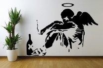 Banksy Fallen Angel XXL 120cm x 160cm Huge Wall Sticker