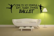 'Life is so simple... Eat, sleep, dance ballet' Ballet Boys Large Wall Decoration