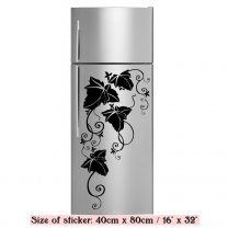 Amazing Vine Floral Corner - Decorative Kitchen Fridge Sticker