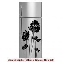 Elegant Poppy - Refrigerator Fridge Sticker Vinyl Transfer