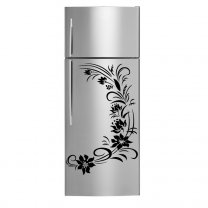 Floral Wreath - Fridge Kitchen Removable Wall Decal