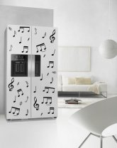 Large Music Notes Set - Fridge Kitchen Removable Stickers