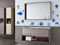 Marine Creatures Set of 13 Stickers - Aquarium Bathroom