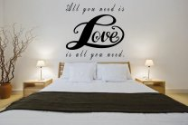 All You Need Is Love - Lovely Large Vinyl Wall Sticker