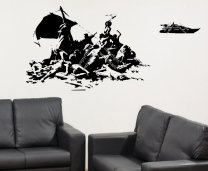 'Banksy's version of The Raft of the Medusa' - Wall Sticker, Decal, Wall Art 2016