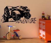ADVENTURE 4x4 OFF-ROAD Jeep Wall Sticker Decoration