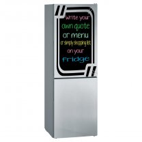 Chalkboard fridge sticker + free chalks and sponge. Four lovely colours available.