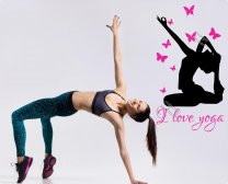 I love yoga with butterflies - Stunning motivational Wall Stickers