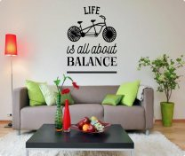 LIFE IS ALL ABOUT BALANCE - Stunning Wall Sticker Decal