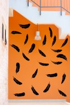 Set of 24 feathers - lovely wall, fridge, car, laptop, window sticker compositio