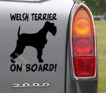 Welsh Terrier On Board! Car Sticker Removable Decal Art Transfer