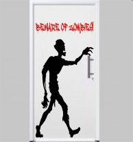 Beware of Zombies Funny Wall Sticker Decal for Zombie Fans