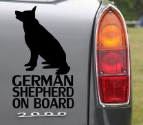 German Shepherd On Board - Bumper, Car Sticker, Dog lovers must have sticker
