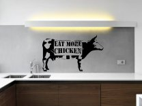 Banksy Style Eat More Chicken Wall Sticker Decor Decal