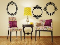 Set Of 3 Stylish Vintage Frames Picture Mounts Removable Wall Stickers