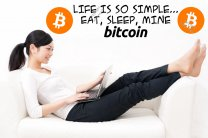 Life Is So Simple... Eat, Sleep, Mine Bitcoin! Huge Removable Wall Sticker Premium Quality Decal