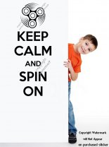 Keep Calm and Spin On Amazing Modern Wall Sticker