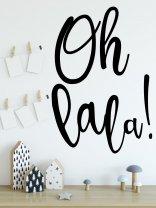 'Oh Lala!' Wall Sticker Quote Scandi Minimalist Home Decor