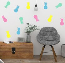 Set of 12 Pineapple Wall Stickers Tropical Fruit Decals