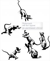 """Banksy 2020 Set of 6 RATS COVID / Lockdown """"My Wife Hates it When I Work From Home"""" by Banksy"""