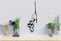 Banksy 2020 Sanitiser Rat Graffiti Pandemic-Inspired Artwork Wall Car Fridge Window Vinyl Sticker