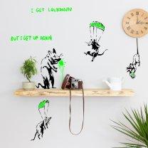 Set of Banksy Metro Rats Sneezing Rats 2020 Pandemic Art