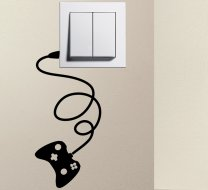 Designer - GAMEPAD Light Switch Sticker Funny Wall Decal
