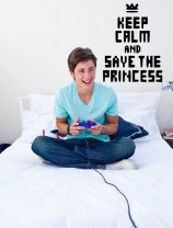 'Keep Calm and Save The Princess' - Teenager / Gamer / Kids Room Wall Decal