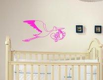 Designer - Stork Carrying Baby Child Wall Sticker