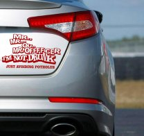 Designer - Mrrr... Officer.... I am not Drunk. Funny Car, Wall Sticker