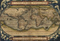 1570 Abraham Ortelius - Vintage Map of the World Poster