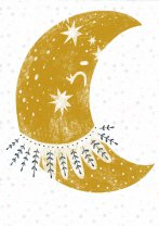 Amazing Scandi Style Moon and Stars Nordic Hygge Poster