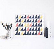 Watercolour Triangles Geometric Scandinavian Print Modern Nordic Poster