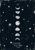 Moon Poster 'Dream Big Little One' Night Sky Wall Art Print