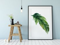 Banana Leaf Minimalist Tropical Poster Modern Exotic Watercolour Print