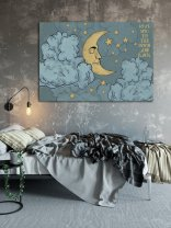 'Love you to the moon and back' - Moon and Stars Print Night Sky Poster