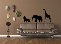 Wild African Animals Vinyl Decor
