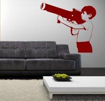 Banksy Boy With Bazooka - Wall Sticker