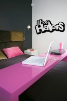 Designer 'I love haters' - Vinyl Wall / Car / Laptop Funny Sticker