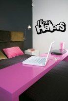 Designer 'I love haters' - Vinyl Wall / Car / Laptop Funny Sticker